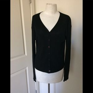 linda allard ellen tracy knit cardigan blk MP $49